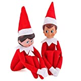 AKIDSDOLL New Christmas Red Boy Red Girl Santa Claus Figure Toys Elf on the Shelf Plush Doll Magic Xmas Gift