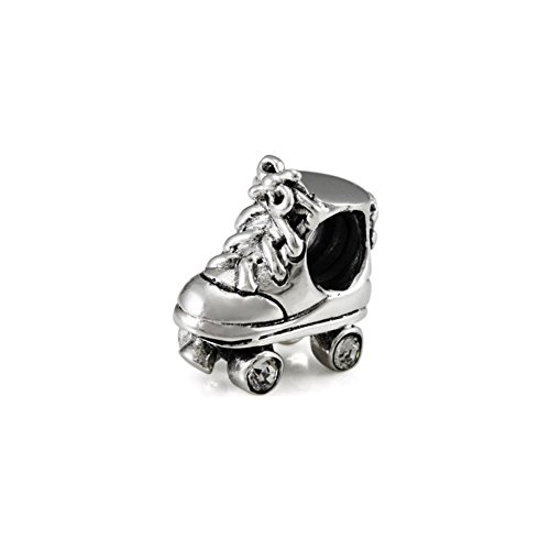 Ohm Perles Argent sterling Roller Derby Skate Charm perle