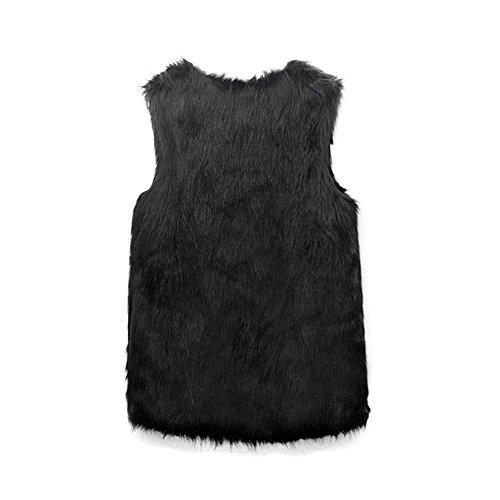 Manches Manteau Shrug Promotion Femme Gilet Fausse Gilet Clearance Veste Big Ladies sans Noir Gilet Gilet Manteaux Fourrure Covermason Outwear CanqnZwP