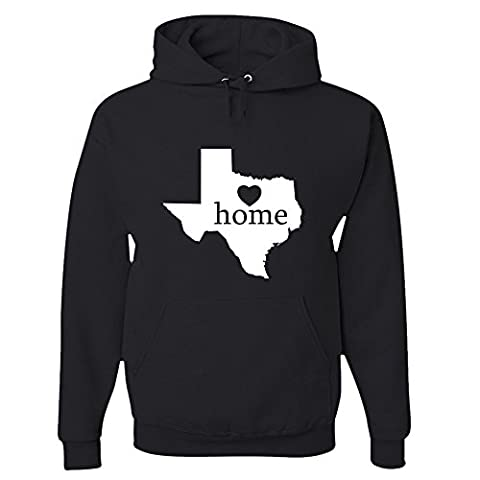Texas Home Hoodie Sweatshirt Black Medium (Hoodies Texas)