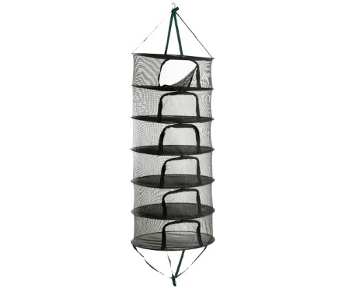 HydroFarm STACK!T 2' Drying Rack w/Clips 2 FT Mesh Hanging R