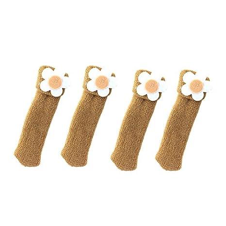 4 Stk Stuhlbeinsocken M/öbel Socken Antirusch Fu/ßbodenschoner f/ür Stuhl und Tisch LianLe
