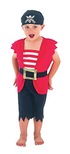 Bristol Novelty Pirate Boy Toddler Costume Costume Age 2 -3 Years