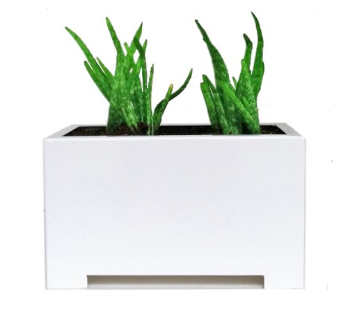 Alora Rectangle Planter - White - 24'' x 15'' x 15'' by NMN Designs