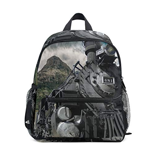 MUOOUM Mountain Hill Train Kids Backpack Pre-School Toddler Bag Travel -