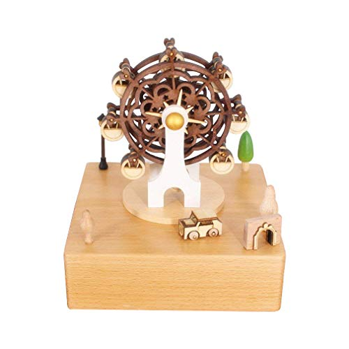 Christmas Present Music Box - Celsy Wind Up Musical Box Smart Wood Music Box as Birthday Gift and Christmas Gift for Lover Friends and Children (Ferris Wheel)