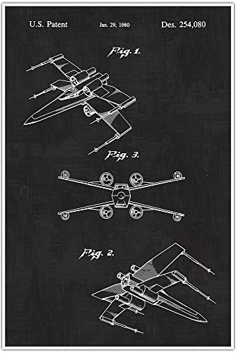 Vintage Star Wars X Wing Starfighter Patent Poster