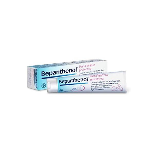 Bepanthenol Pasta Lenitiva Protettiva con Pantenolo 5%, Crema Cambio Pannolino Neonato, Senza Ossido di Zinco, 100 g 2