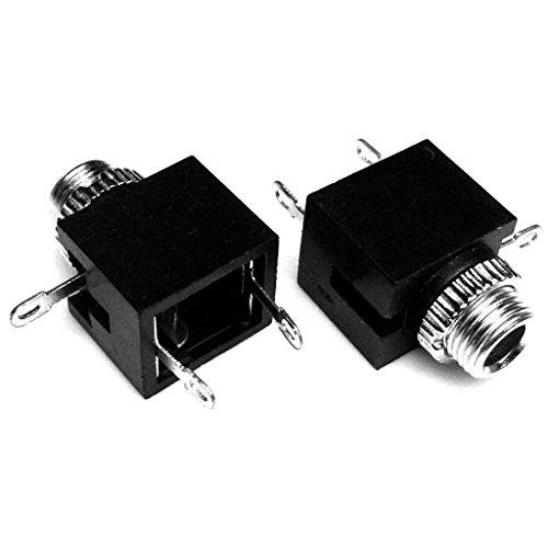 (CESS-302 3.5mm Mono TS Plug Jack Socket Adapter Cables Connectors (jcx) - 2 PACK)