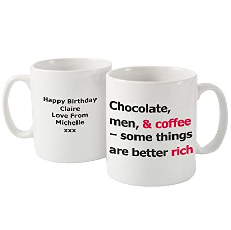 Personalised Better Rich Slogan Coffee Mug