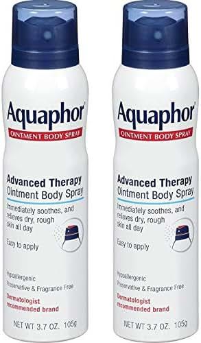 Aquaphor Ointment Body Spray - Moisturizes and Heals Dry, Rough Skin - 3.7 oz. Spray Can, 2 Pack