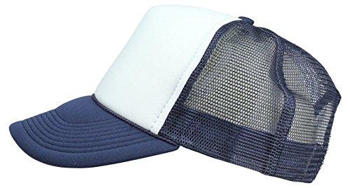 2 Packs Baseball Caps Blank Trucker Hats Summer Mesh Cap (2 FOR Price of 1) (Navy/White)