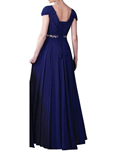 Festlichkleider Damen Langes Grau Partykleider Brautmutterkleider Braun Neu Charmant Einfach Abendkleider Dunkel Chiffon RxqHBBw8