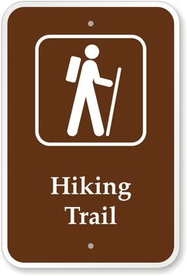 "Hiking Trail (with Graphic) Sign, 18"" x 12"": Yard Signs"
