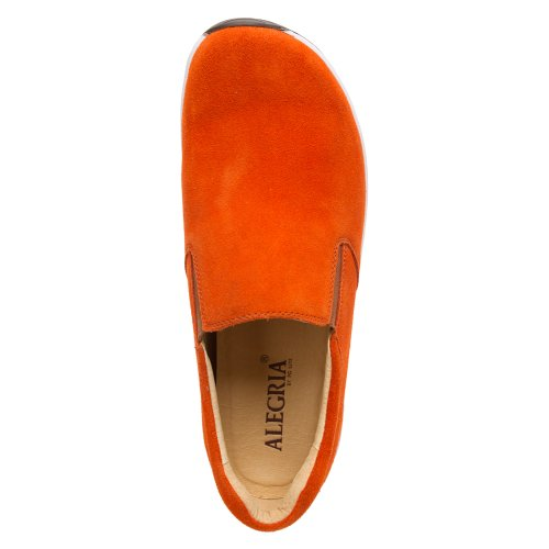 Alegria Mens Aaron Slip-On Orange Suede fTPvwu