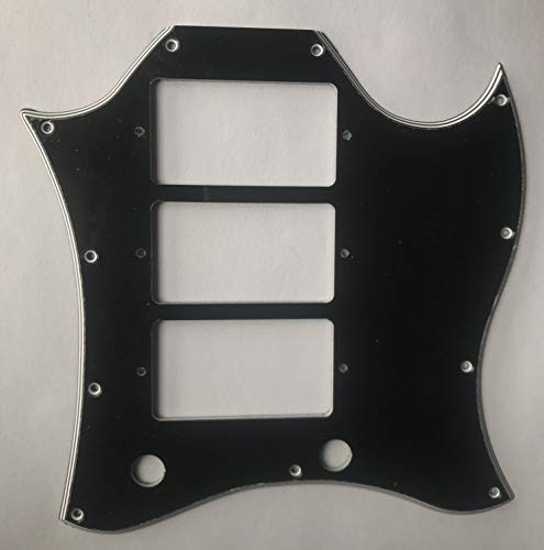 - New For Gibson SG Standard 3 Pickup Guitar Pickguard Scratch Plate,5 Ply Black