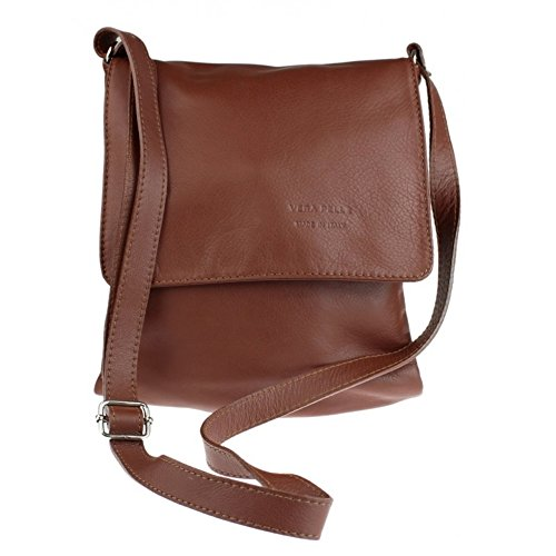 soft Italian Genuine Vera Medium Medium Body Cross Italian Bag Brown Pelle Brown Womens leather Bag Company qCrxwpzPq