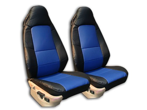 Iggee BMW Z3 (Not M Series) Black/Blue Artificial leather Custom fit Front seat cover