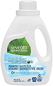 Seventh Generation Natural Laundry Detergent Free & Clear - 50 Fl oz