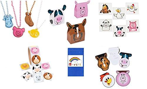 Farm Animal Party Favor Bundle For 12