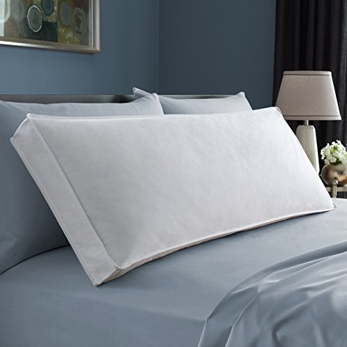 Pacific Coast Cuddlesoft Body Pillow 230 Thread Count Resilia Feathers 100% Cotton Removable Cover - One Size