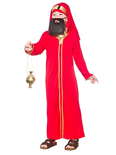 Wise Man Costume Uk (Childs Nativity Wise Man Balthazar Christmas Fancy Dress Costume)