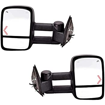 DEDC Chevy Tow Mirrors Side Mirrors Towing Mirrors Power Heated with Arrow Signal Light for 2003-2007 Chevrolet Silverado GMC Sierra 1 Pair