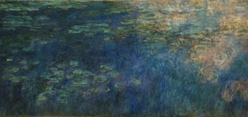 Monet - Reflections of Clouds on the Water Lily Pond, Poster art print wall