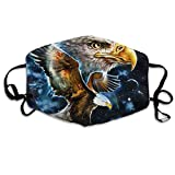Mouth-Muffle Face Mask Unisex Eagle Space Adjustable Washable Anti-dust Woman Mens