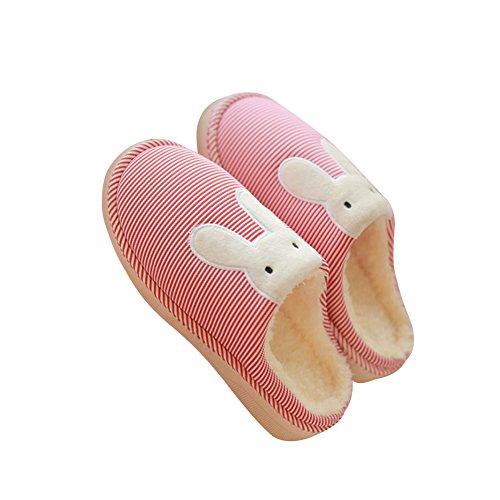 Warm Women Soft Rabbit Couples Slippers Men Red Cute Matching Hevinle HwqTxEa1E