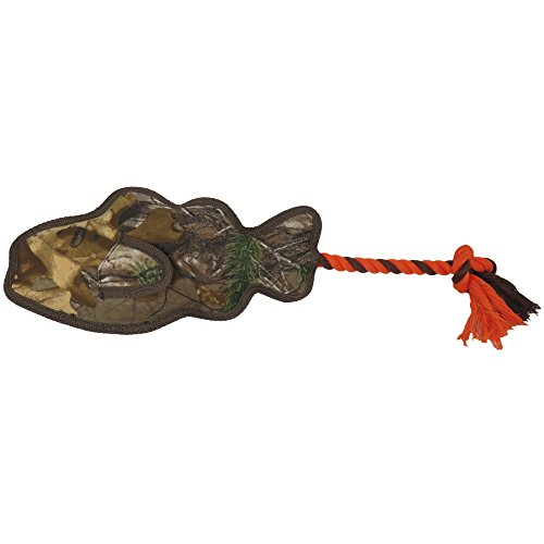(Realtree Rope Floaty Fish Dog Toy. Best Licensed Tough Floating Toy for Dogs & Cats. Fun & Durable Pet)