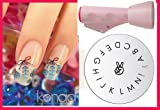Konad 2 Way Combo Stamper +Scraper + Image Plate M17 Letters A-N - Nail Art + Holiday A-viva Nail Kit