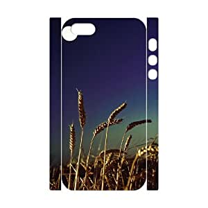 Customized Phone Case with Hard Shell Protection for Iphone 5,5S 3D case with Beautiful grassland lxa#457528