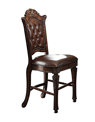 Exceptionnel ACME Vendome Faux Leather Counter Height Chair Set Of 2