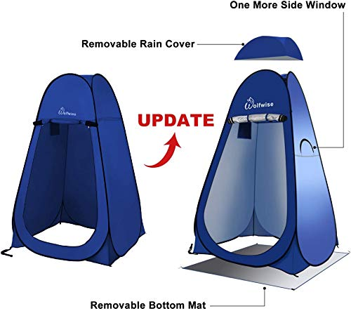 41d4Wn9WSGL Wolfwise Pop up Umkleidezelt Toilettenzelt, Camping Duschzelt Mobile Outdoor Privatsphäre WC Zelt Lagerzelt, Tragbar