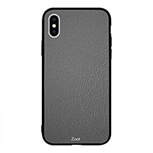 iPhone XS Max Grey Light Leather Pattern
