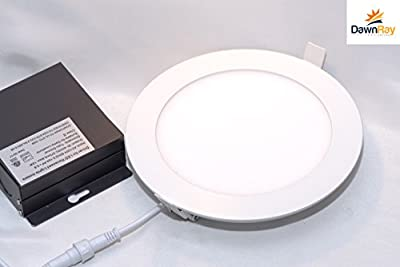 "6"" Round Super-thin LED Downlight, LED Recessed, Slim panel, 15W, 3000K Warm White, 975LM, Airtight (White)"