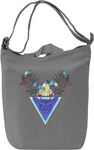 Hipster Deer Borsa Giornaliera Canvas Canvas Day Bag| 100% Premium Cotton Canvas| DTG Printing|