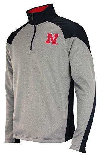 - Outerstuff NCAA Men's Helix 1/4 Zip Track Jacket, Nebraska Cornhuskers Large