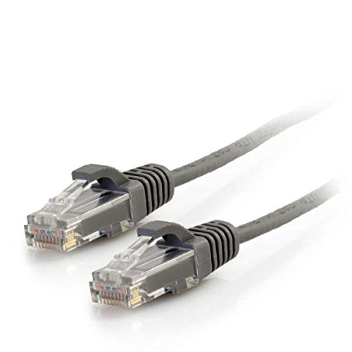C2G 01089 Cat6 Slim Cable - Snagless Unshielded Slim Network Patch Cable, Gray (3 Feet, 0.91 Meters) (C2g Patch Cat6 Cable)