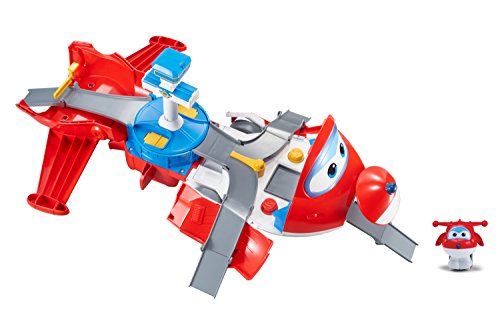 (Super Wings - Jett's Takeoff Tower 2-in-1 Toy Playset | Includes Jett Figure | Pop 'n Transform Scale)