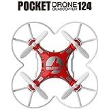 [Quadcopter] SBEGO Mini Drone RC Quadcopter Micro Pocket Remote Control Headless UFO UAV Gift (Red)