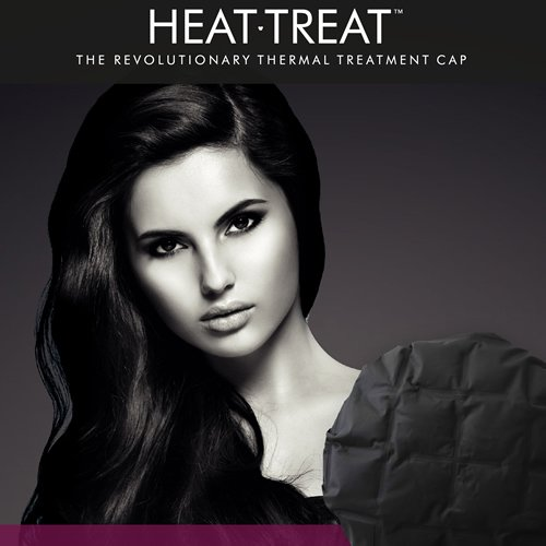 Heat-Treat - The Thermal Heat Conditioning Hair Cap with 3 Treatments included PLUS Hask Argan Oil Intense Deep Conditioner 50ml (Microwave Hair Conditioning Cap compare prices)
