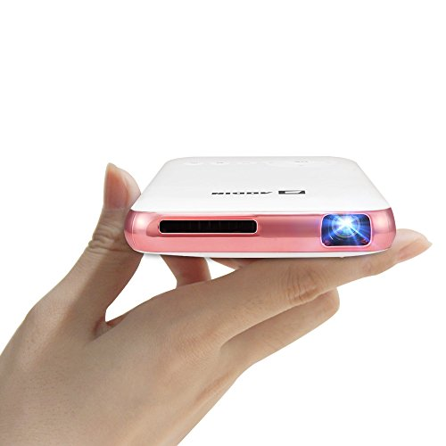 Aodin Mini Smart Android Pico Projector-Features with HDMI Input-Vertical Keystone Correction - Miracast and Airplay Function-Slim Wireless HD Portable Pocket DLP Home Cinema Theater (Pocket Laser Light Show)