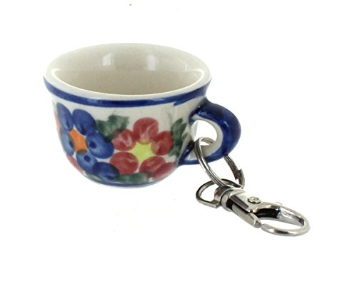 Polish Pottery Garden Butterfly Key Chain ()