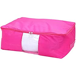 Luckygirls Multifunction Zipper Foldable Blanket Quilt Cloth Rectangle Storage Box Fabric Container Clothing Pouch Bag