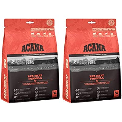 ACANA 2 Bags of Red Meat Formula High-Protein Dry Dog Food, 12 Ounces Each, Grain-Free, Made in The USA