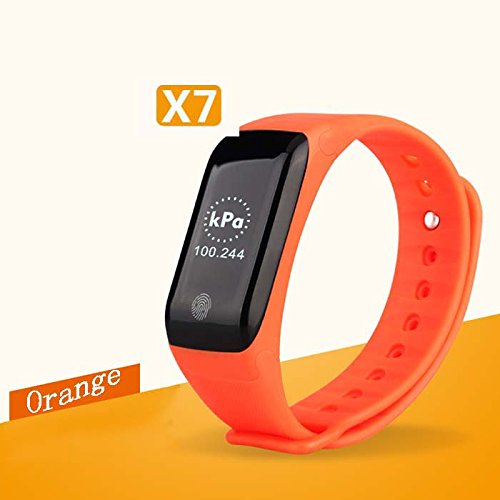 Amazon.com : Black X7 Wristband Heart Health Monitor Bluetooth Smart Band Pedometer Temperature Altitude Sports Bracelet Fitness Tracker Watches : Sports & ...