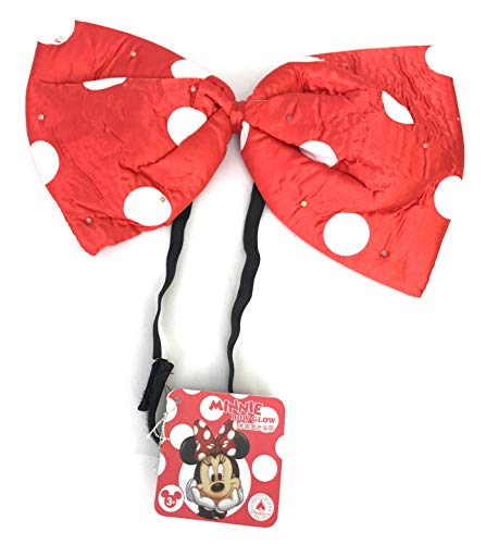 Disney Parks Minnie Mouse LED Light Up Red Polka Dot Glow Bow Headband]()