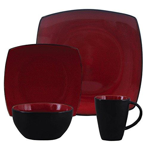 Gibson Soho Lounge Red 16-Piece Dinnerware Set image